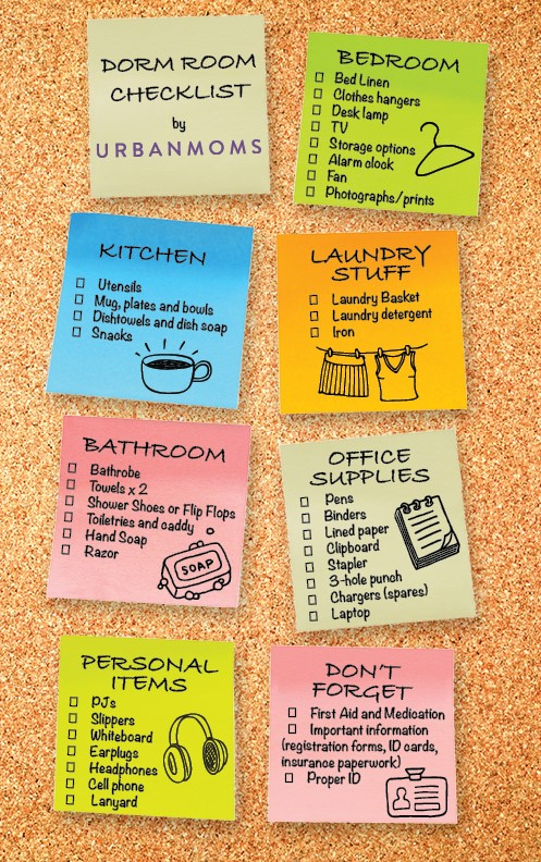 Click Here For A Printable Dorm Checklist! Part 82