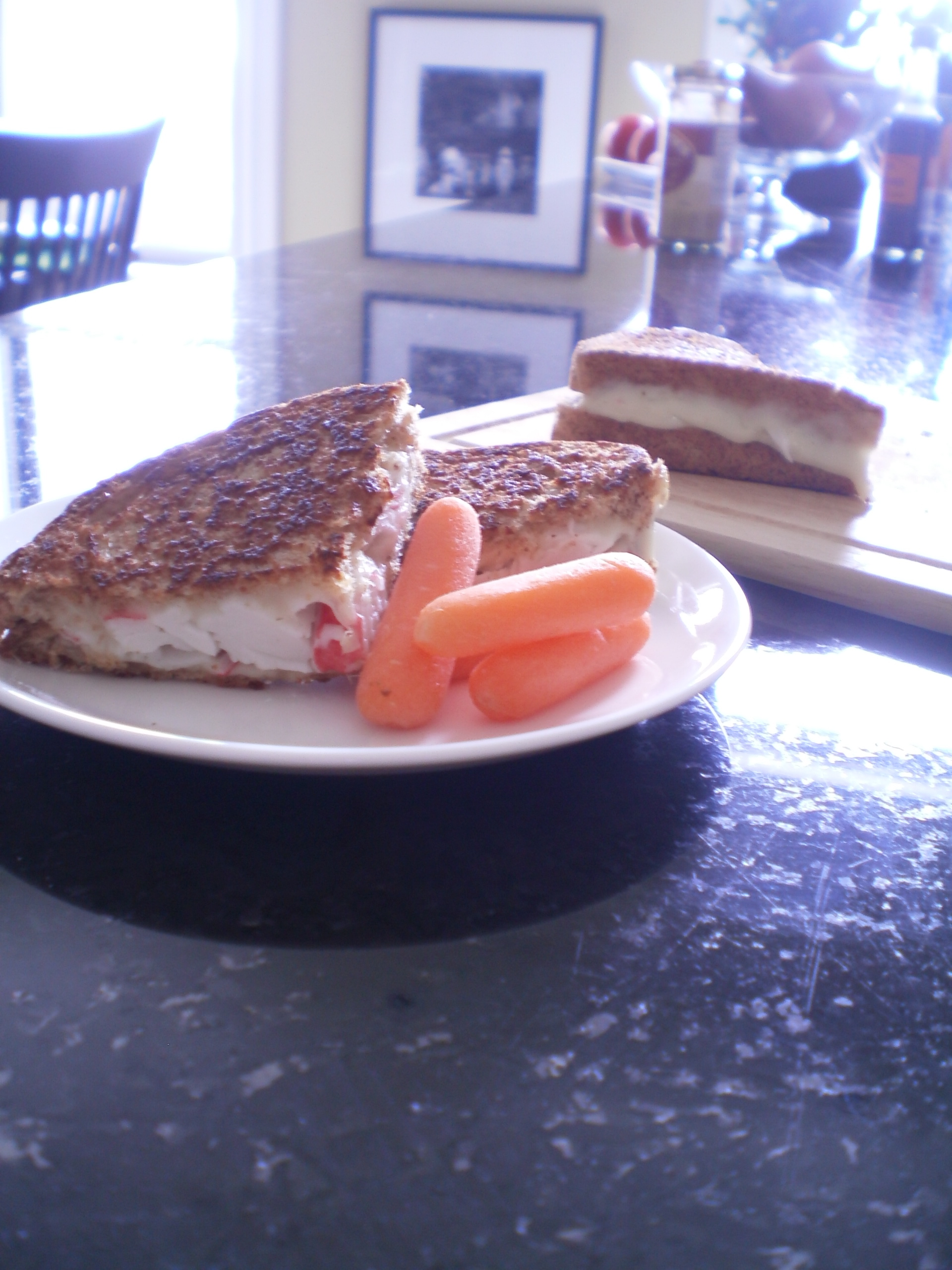 Seafood & Swiss Grilled Cheese