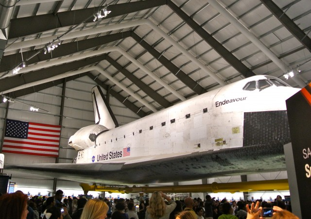 The Space Shuttle Endeavour at The California Science Center.