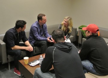 Chatting with 98 Degrees