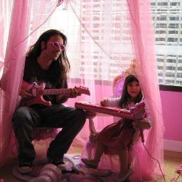 "Eric ""jamming' with his daughter Hannah"