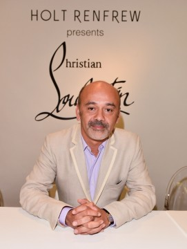 Famed French shoe designer, Christian Louboutin at Holt Renfrew Bloor Street, Toronto.  (photo courtesy of Holt Renfrew)