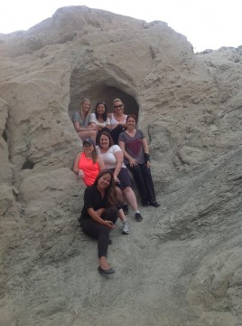 Red Jeep Tours - San Andreas Fault - my travelling companions!