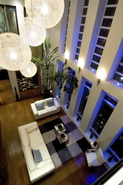 One of the designer penthouse suites at the Cosmopolitan Hotel, Toronto.