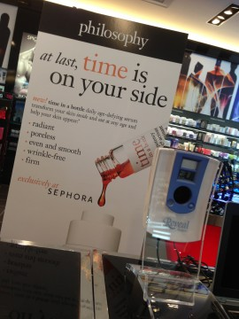 Philosophy's new TIME IN A BOTTLE at Sephora.