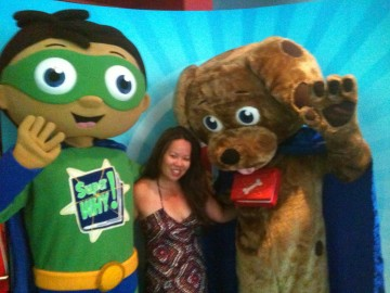 Hey, guess who's with the TV characters at last year's Kids' CBC Days?