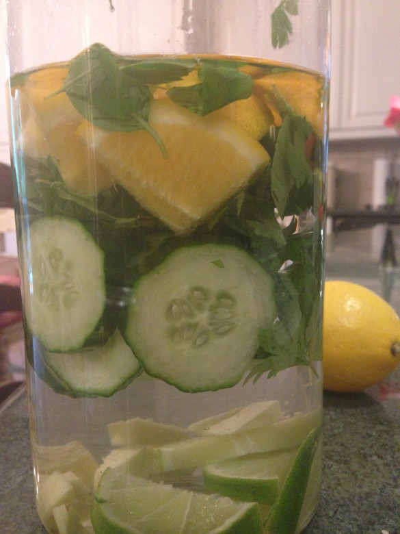 Lemon-herb water.  This isn't your mom's water.