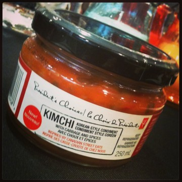 PC KIMCHI Condiment is available at the meat section.