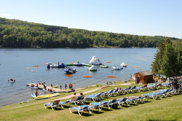 The Waterfront Splash Zone at the Deerhurst Resort.