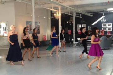 Cheryl Burke giving salsa lessons to beauty media!