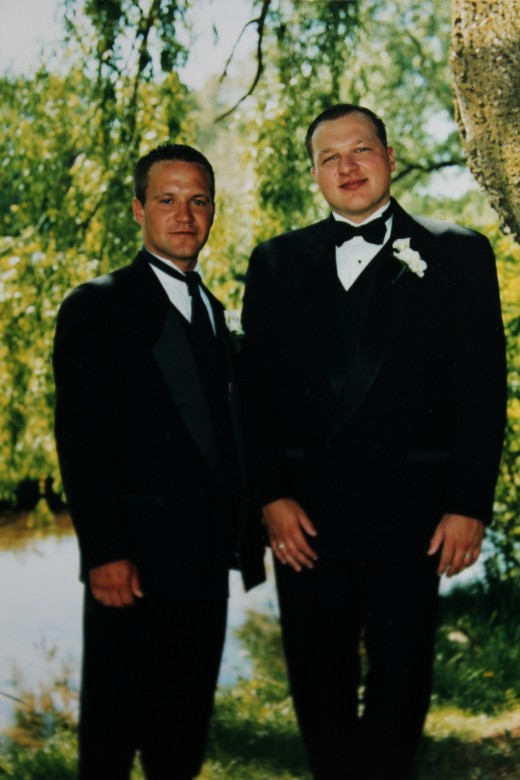 Kevin and Sean on our wedding day -  May 29, 1999