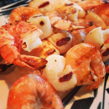 Shrimp & Scallop Skewers on the BBQ