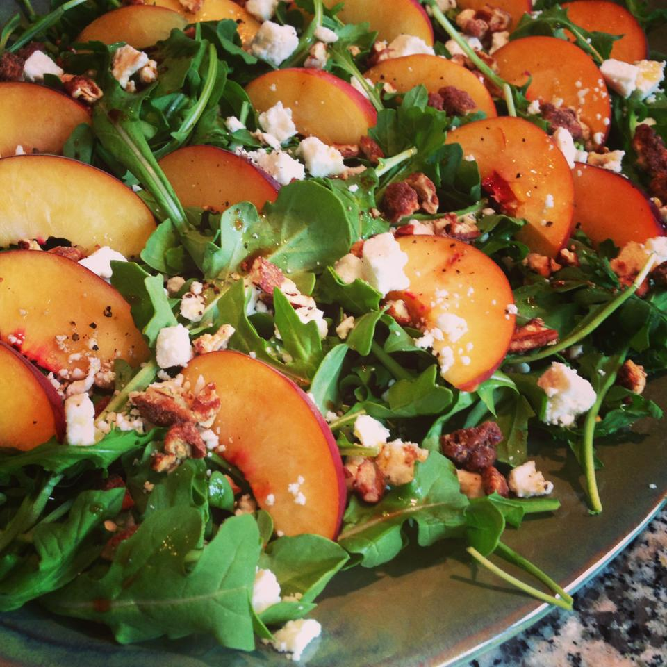 What to serve now: Peach & Arugula Salad