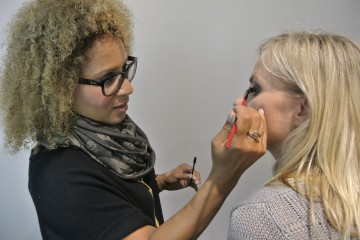 Lori Taylor of Smashbox with Katya (TIFF2012)