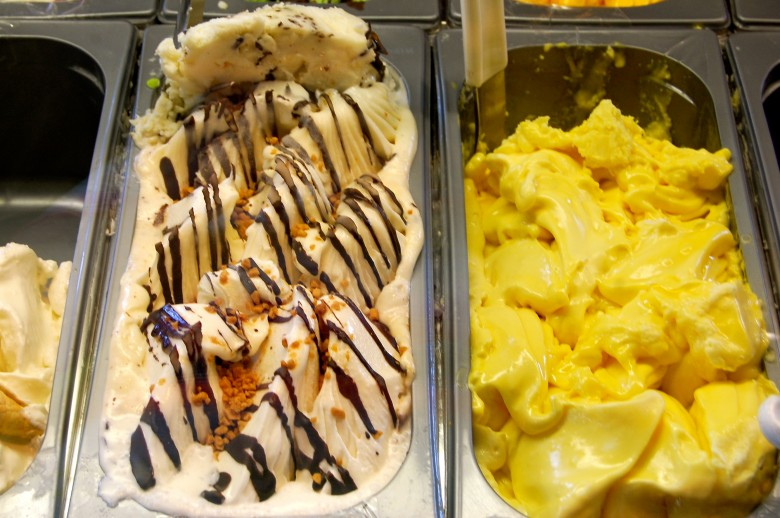 Delicious gelato at Carmelis Goat Cheese Artisan