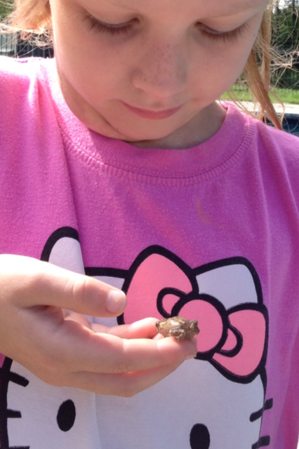 Eva and her baby toad