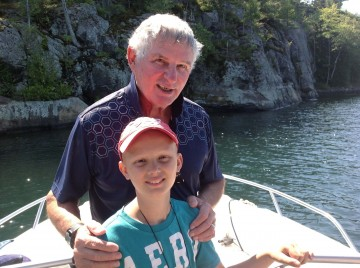 papa and row