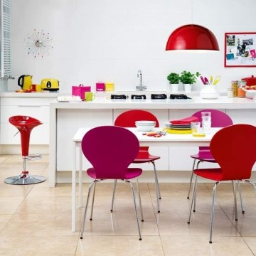 Adding colour by using accessories gives you more flexibility in the space.