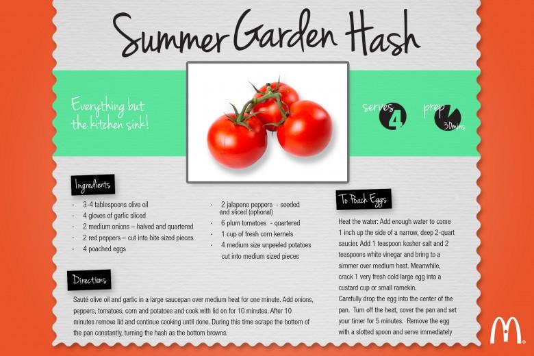Summer Garden Hash