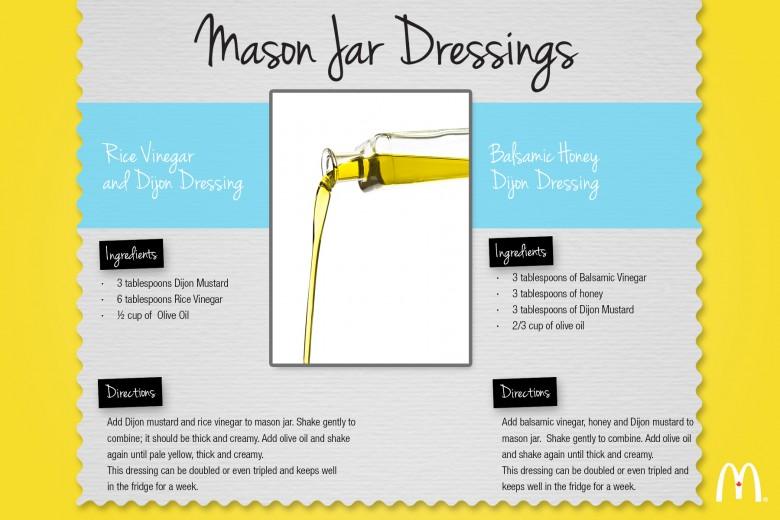 Mason Jar Dressings