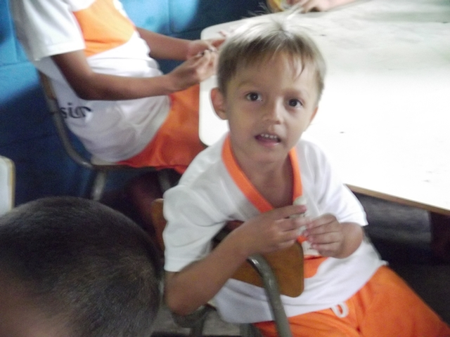 Little boy at CDIC el Caulotte