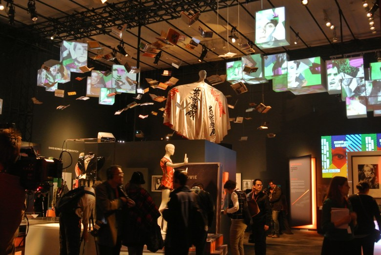 David Bowie is, exhibition at the Art Gallery of Ontario, 2013. Kabuki Theatre Installation. Photo credit: Sonya D.