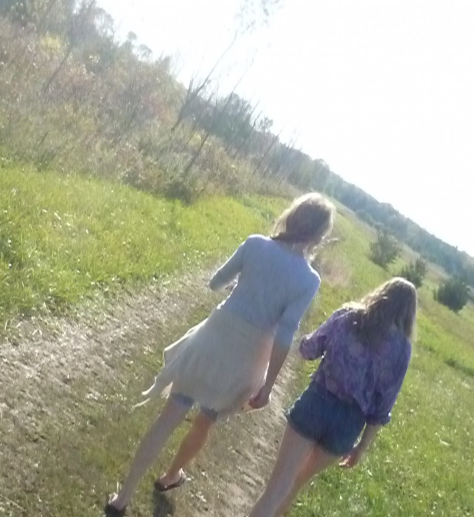 me and my baby walking, talking
