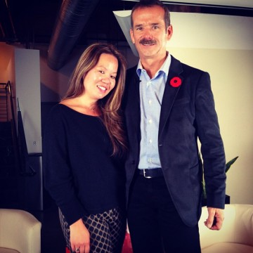 Chris Hadfield with Sonya