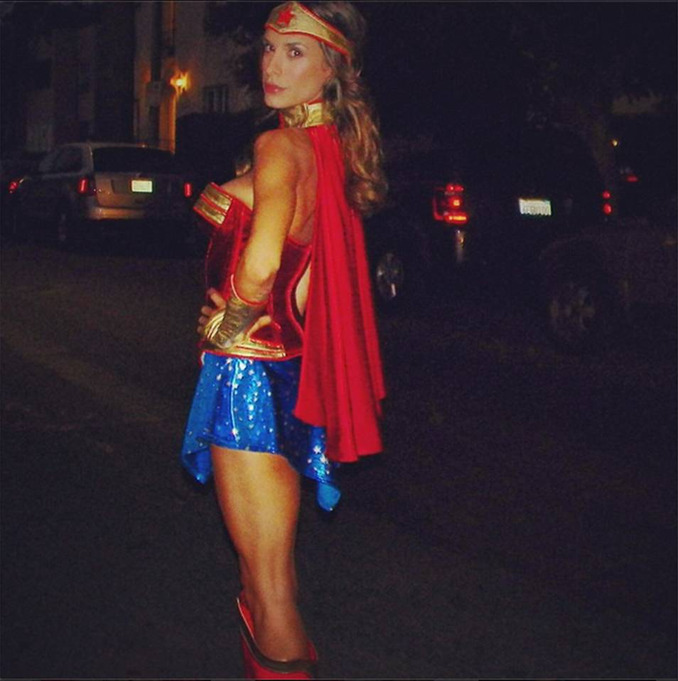 "Elisabetta Canalis as ""Wonder Woman"""