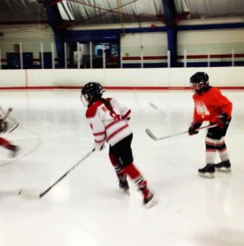 My hockey playing girl.