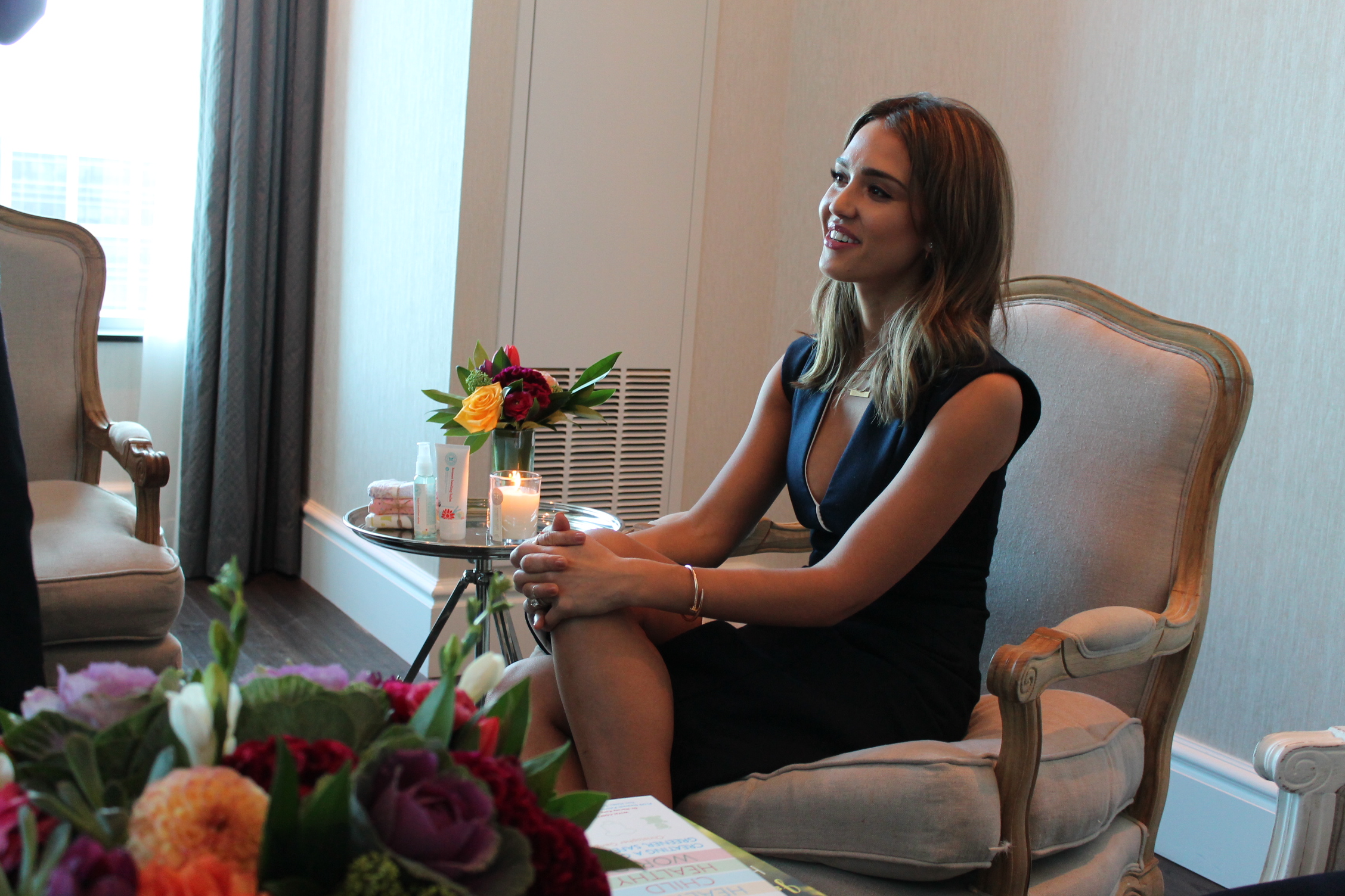 Jessica Alba during meet and greet at The Trump Tower