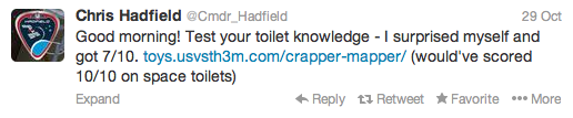 Chris Hadfield's Twitter Feed
