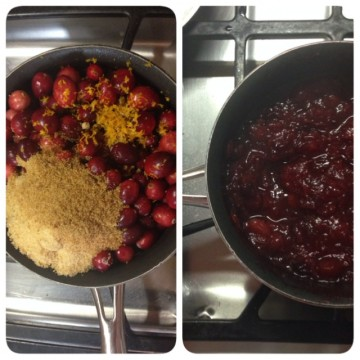 cranberry sauce: before and after