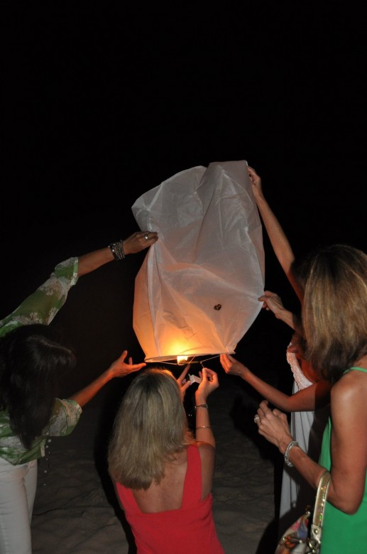 everyone lighting the lantern