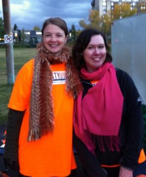 Misty and fellow campaign volunteer Elizabeth.