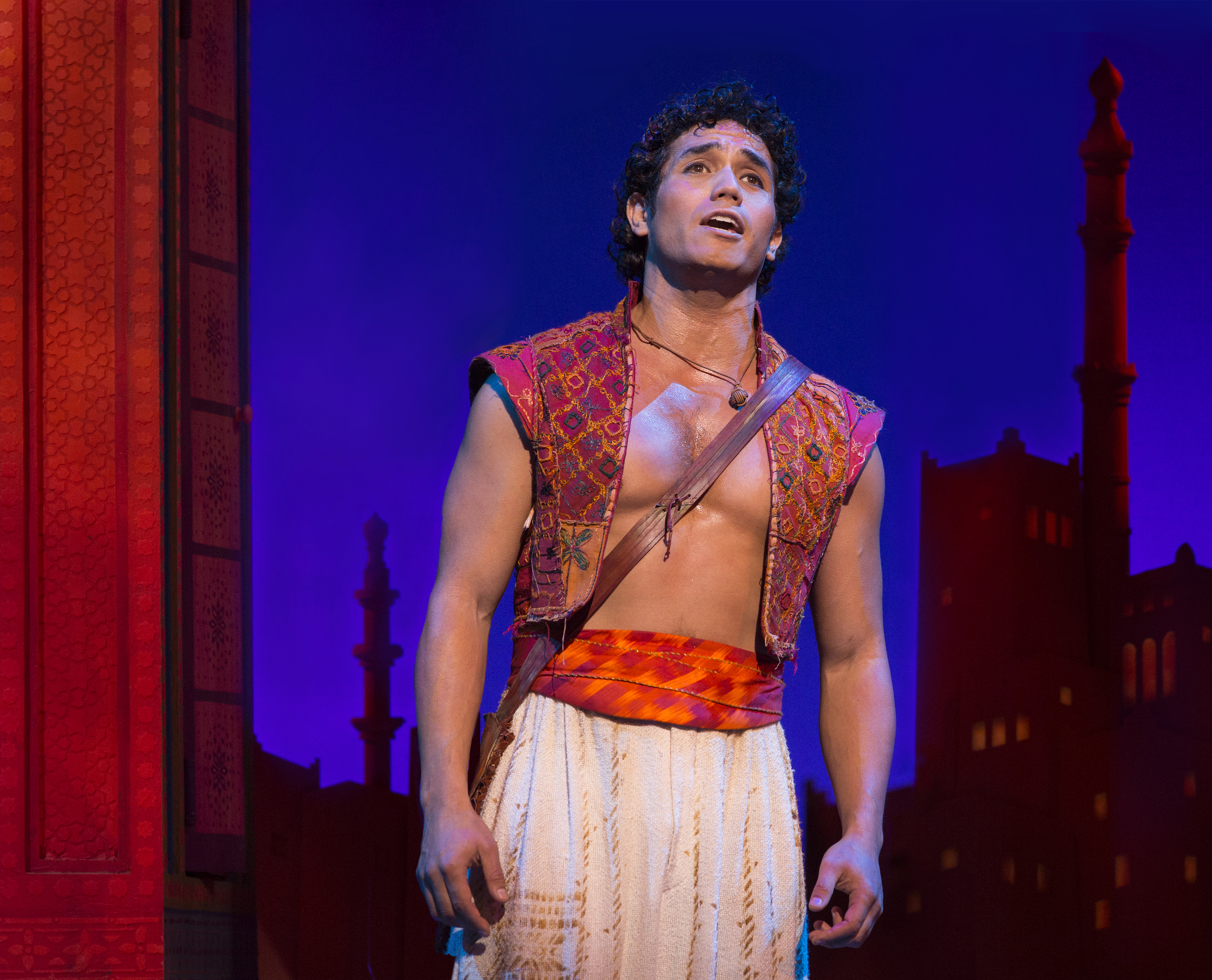 Adam Jacobs as Aladdin (Photo by Cylla von Tiedemann)