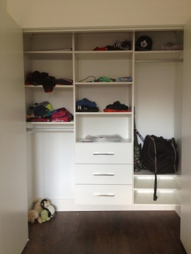 Your closet space can be customized and organized for your specific needs.