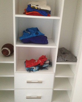 Custom closets can even  help your a teen stay organized.