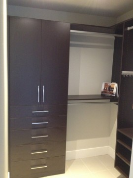 Custom closets to suit your specific needs can be a huge help in keep your stuff and your life in order.