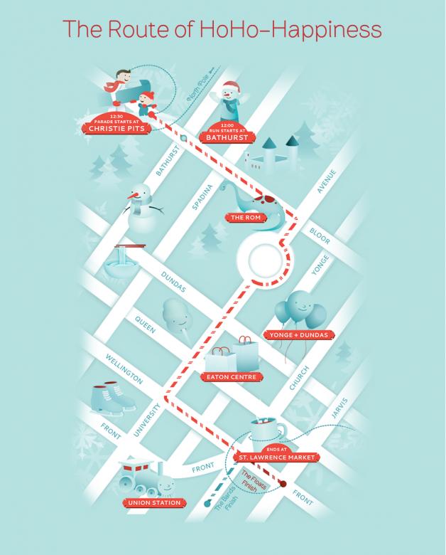 Parade Route for the Toronto Santa Claus Parade