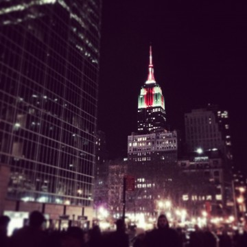 Empire State Building during the Holidays - Photo Credit; Sonya D..