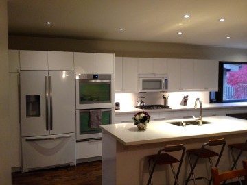 The kitchen. Where lighting options are key.