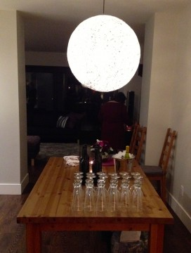 dining room chandelier feature