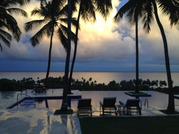 The view of the Caribbean sea from the pool at Casa de Bonita....absolutely heavenly.