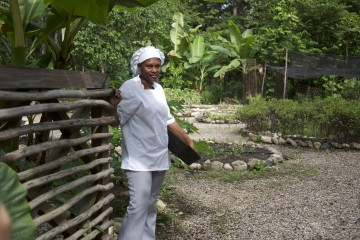 A tour of the chef's garden is a treat for foodies...young and old!