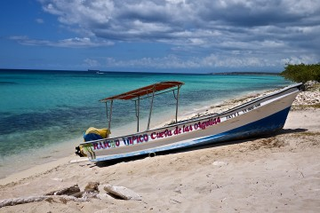 The boat that took us the magical Bahia de los Aguilas...the joy is in the journey on this adventure.