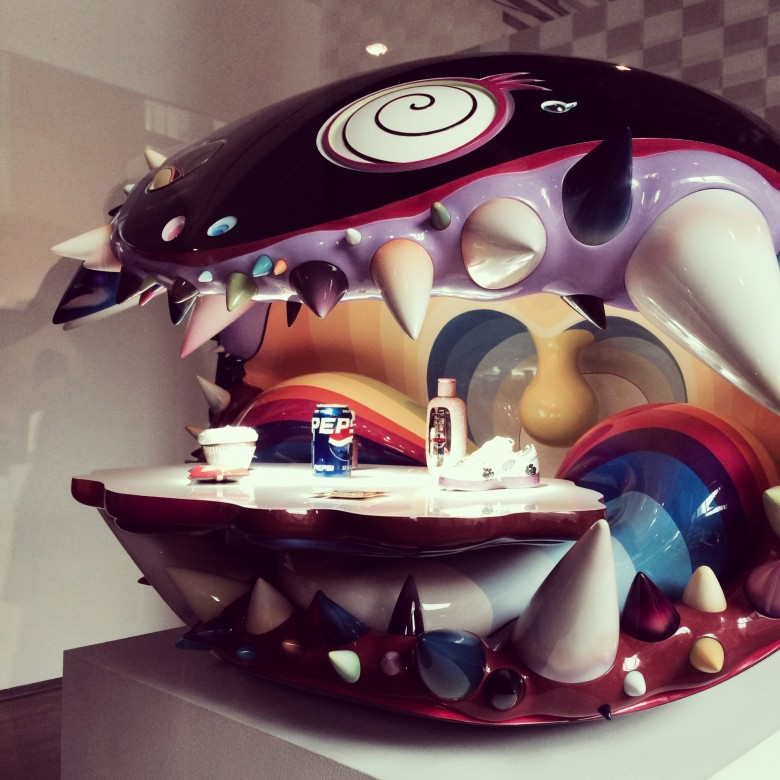 The Simple Things - Takashi Murakami/Pharrell Williams at the Media Preview: This is Not a Toy / photo: Sonya Davidson