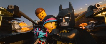 "Caption: (L-r) LEGO- (TM) minifigures Emmet (voiced by CHRIS PRATT), Wyldstyle (ELIZABETH BANKS) and Batman (WILL ARNETT) in the 3D computer animated adventure ""The LEGO® Movie,"" from Warner Bros. Pictures, Village Roadshow Pictures and Lego System A/S. A Warner Bros. Pictures release."
