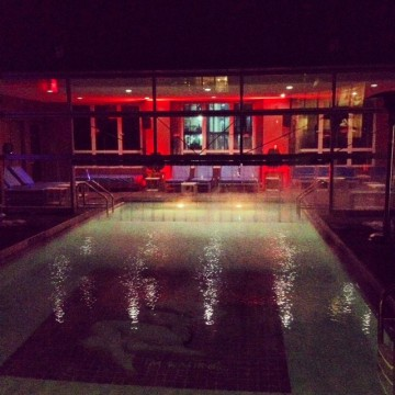 The Gansevoort Park Avenue rooftop pool is open year round.