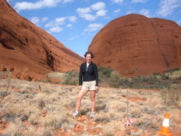 The author in her single days traveling in Australia.